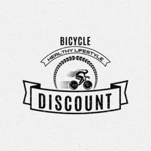 Aufkleber auf einem Fahrrad