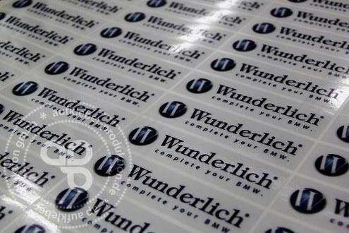 Produktaufkleber transparent mit druck aufkleber for Folie drucken lassen